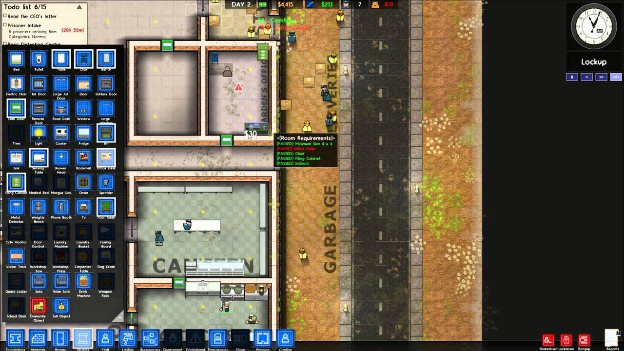 Lets Play Prison Architect