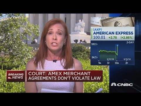Big win for American Express as Supreme Court rules no antitrust violations