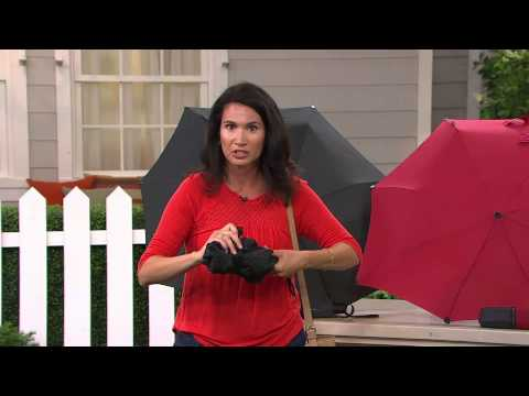 Senz Automatic Pocket Umbrella with Luxury Sleeve with Rachel Boesing
