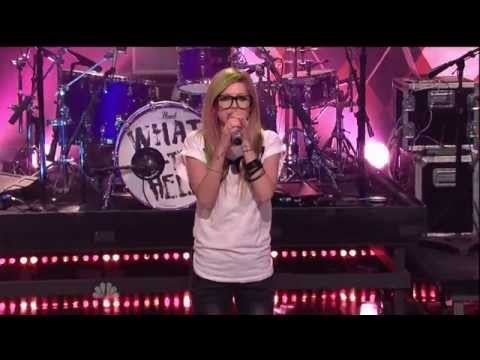 Avril Lavigne- What The Hell (Live @ The Tonight Show with Jay Leno 14.03.2011)