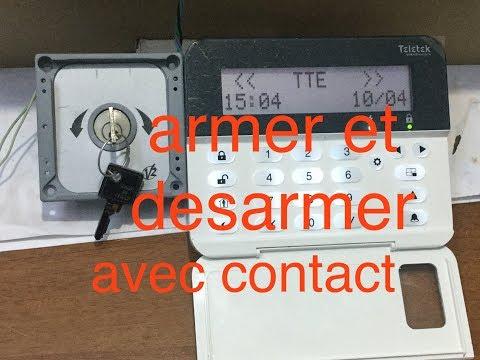#11 Alarme Teletek Armer ,désarmer par contacte a clef  / poussoire