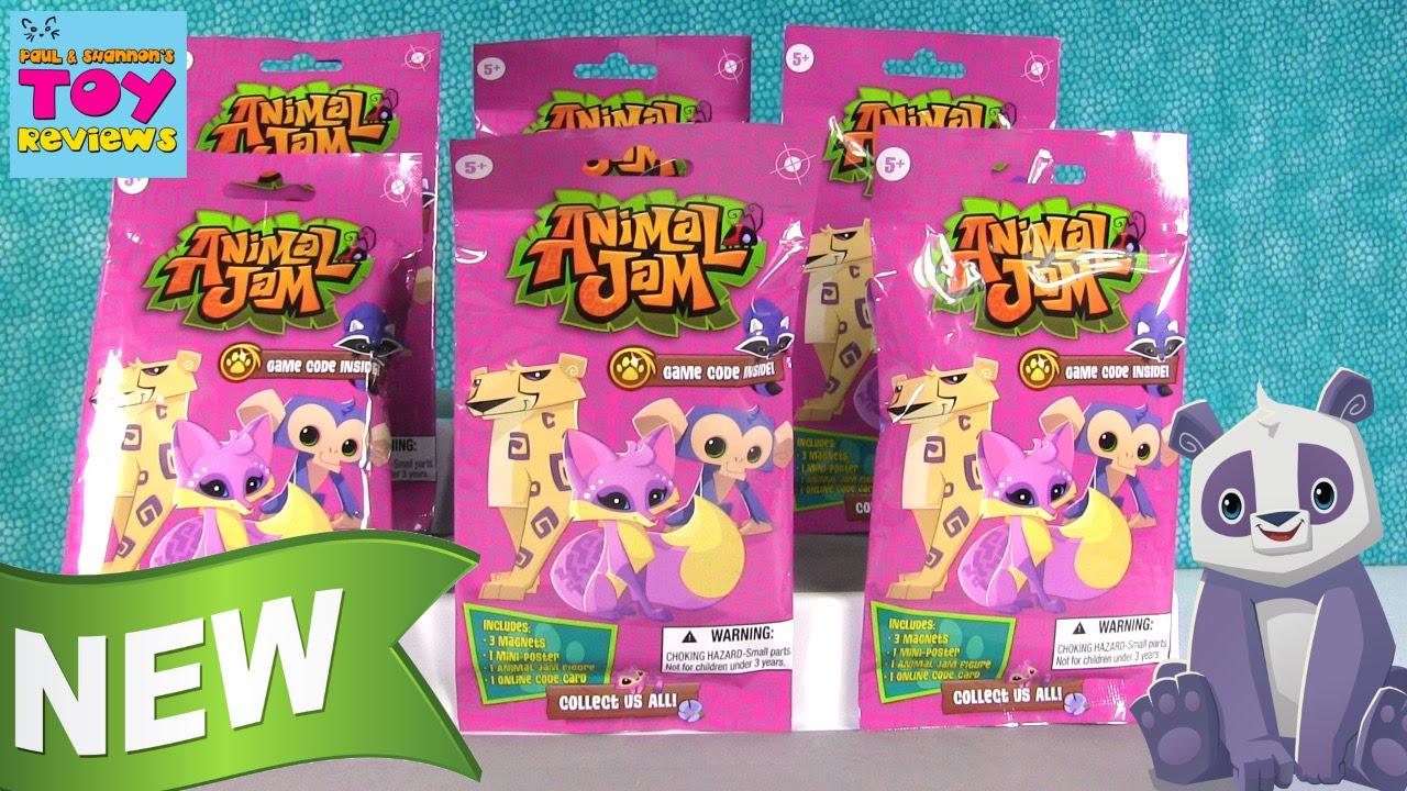 Animal Jam Magnet Packs New Blind Bag Figures Game Code