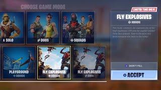 "NEW Fortnite UPDATE! NEW ""Fly Explosives"" GAMEMODE + NEW Guided Missile UPDATE! (Fortnite"