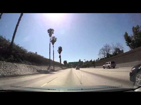 DRIVING FROM PICO RIVERA TO LOS ANGELES DOWN TOWN