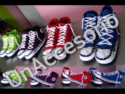 958e3363efb273 Converse a crochet 👟💛💛💛 - YouTube