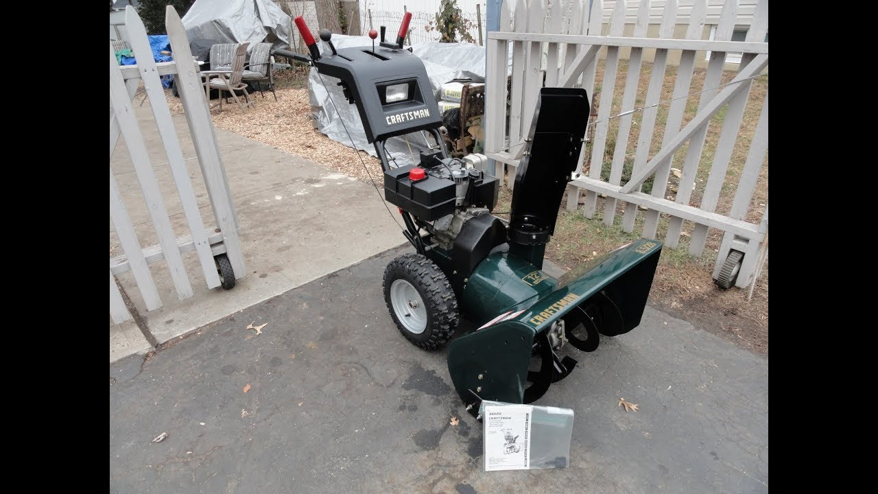 Craftsman 8 5 hp 28 wide Snowblower
