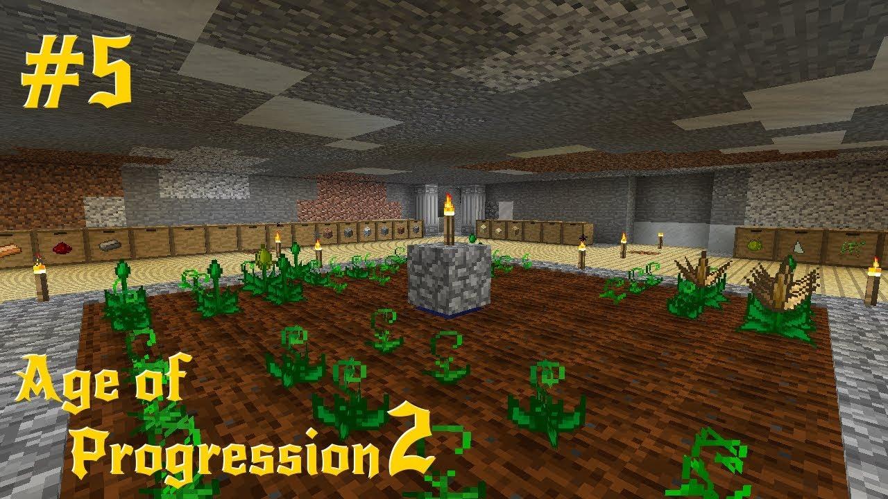 Modded Minecraft : Age of Progression 2 Episode 5 : Beginner Storage  (Storage Drawers)