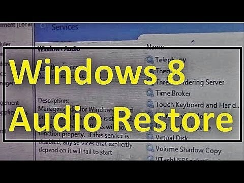 How To Fix Audio Problems On Windows 8