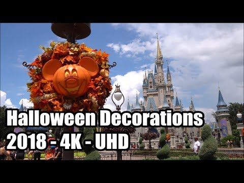 Magic Kingdom Halloween Decorations 2018 in 4K - Super HQ Audio - Walt Disney World