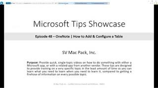 Add New Table in OneNote | Microsoft 365 | Tip 48
