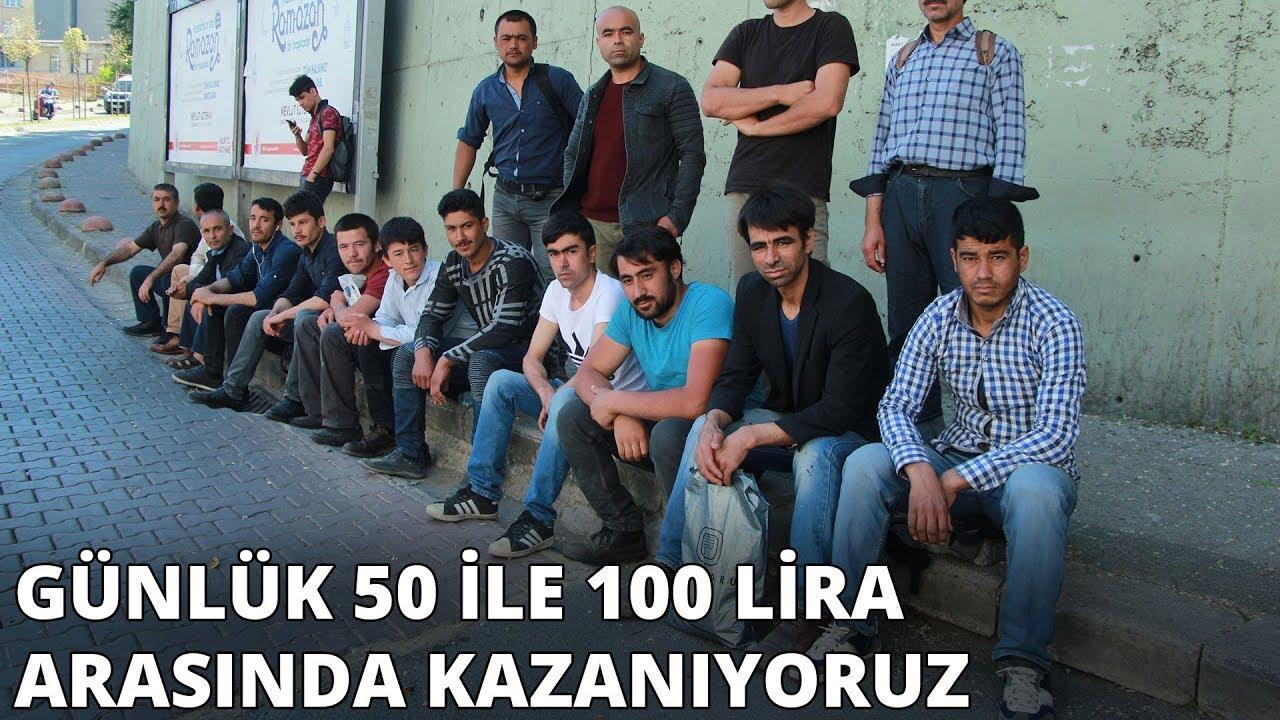 Çağlayan'da göçmenlerin umut pazarı! 'Günlük 50 ile 100 lira arasında kazanıyoruz'