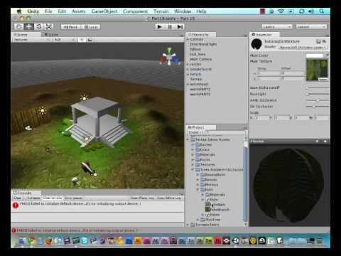 19 - Unity Game Engine - Painting Trees on Terrain Tutorial - YouTube