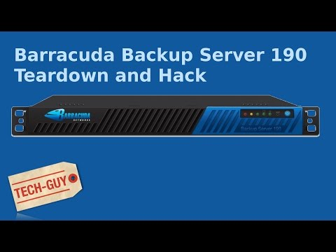 Barracuda Backup Server 190 Teardown and hack