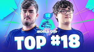 TOP 18 EU WORLD CUP FORTNITE DÚOS | Highlights Week 2