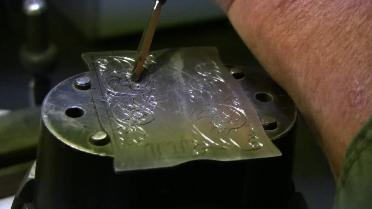 Steel Hand Engraving - YouTube