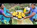Villagers Cooking Big Toddy Palm Fruit Cake And Eating   Toddy Palm Cake Sweet   Village Big Food TV