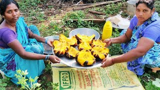 Villagers Cooking Big Toddy Palm Fruit Cake And Eating | Toddy Palm Cake Sweet | Village Big Food TV