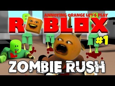Annoying Orange Plays - Roblox: Zombie Rush #1