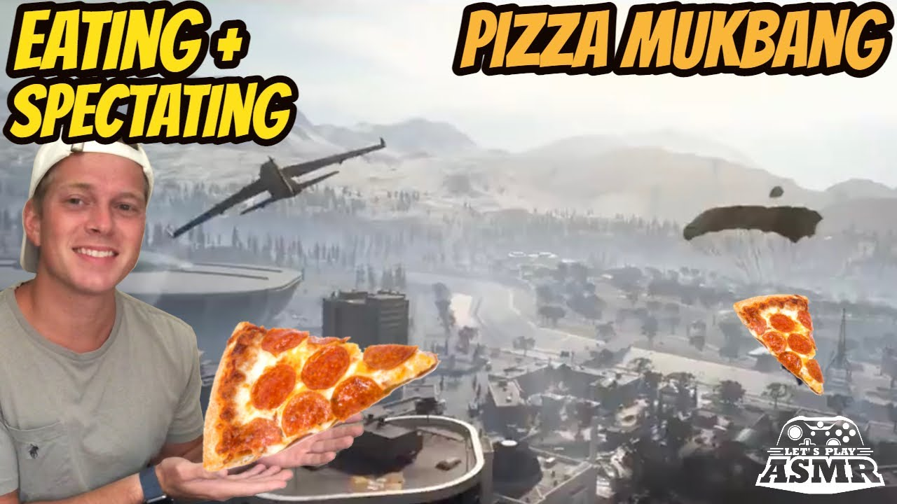 ASMR Gaming: COD Warzone | Relaxing Eating & Squad Spectating! - Pizza Mukbang & Whispering