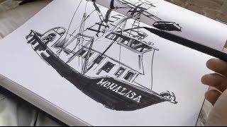 Drawing FISHING BOATS