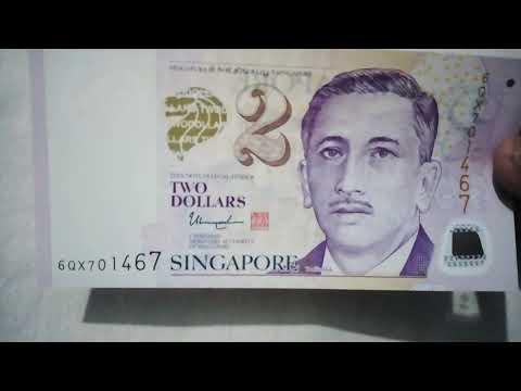 Singapore 2 dollars bill