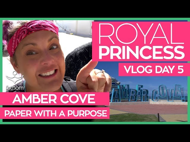 Royal Princess | Alfredo's Pizzeria & Paper With a Purpose in Amber Cove | Cruise Vlog Day 05