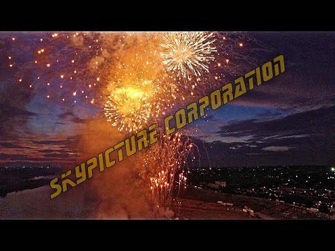 花火空撮サンプル映像 天空から眺めた花火