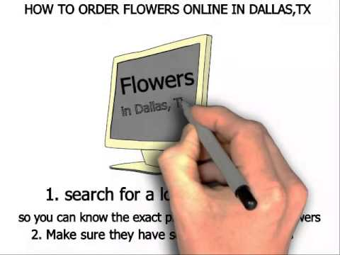How to order flowers online in Dallas, TX