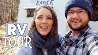 RV TOUR! | BEFORE RENOVATION / FULL TIME RV LIFE | OUR HOMESTEADING JOURNEY!