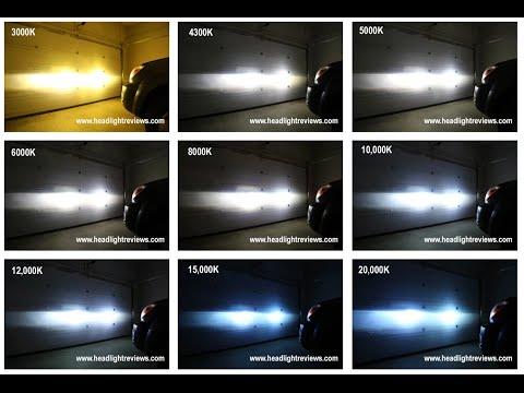 HID Kit Color Comparison Video Footage 3000K vs 6000K vs 8000K
