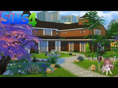 maison japonaise construction sims 4 speed building fr youtube. Black Bedroom Furniture Sets. Home Design Ideas