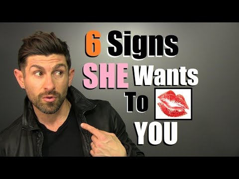 6 Body Language Signs a Woman wants to KISS YOU! (99.9% Accurate)
