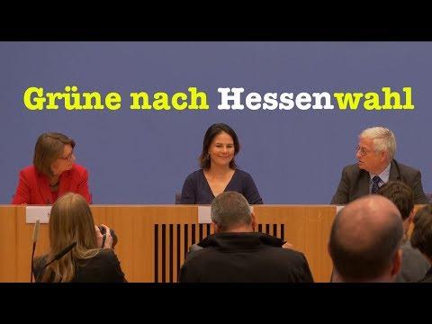 Priska Hinz & Annalena Baerbock (Die Grünen) zur Wahl in Hessen - BPK 29. Oktober 2018