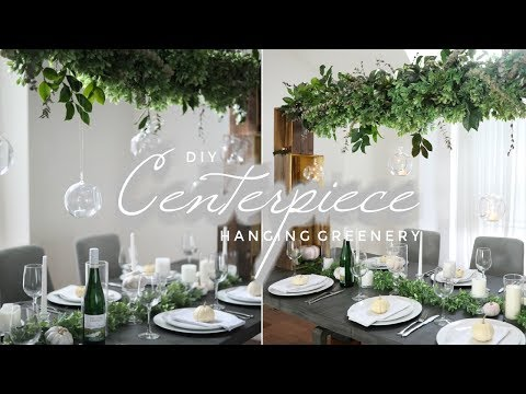DIY Suspended Greenery Centerpiece