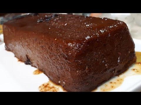Budín de pan de café y chocolate