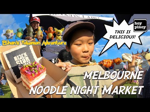 Ethan Goes to Melbourne Noodle Night Market!