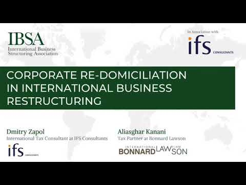 Corporate re-domiciliation in international business structuring [EXCERPT]