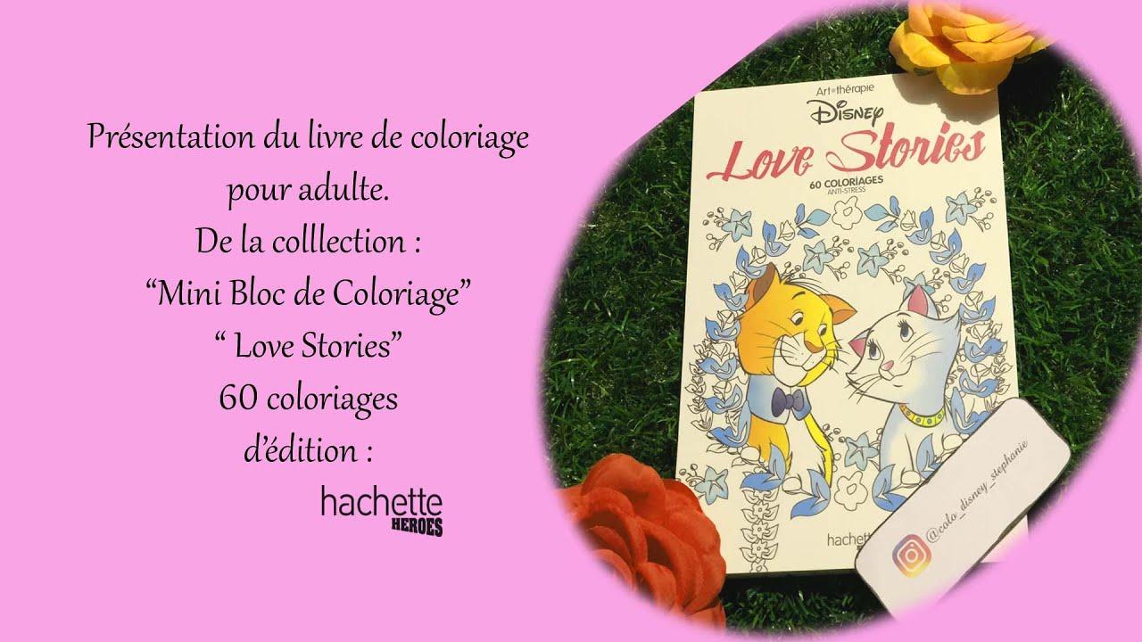 Presentation Livre Coloriage Love Stories