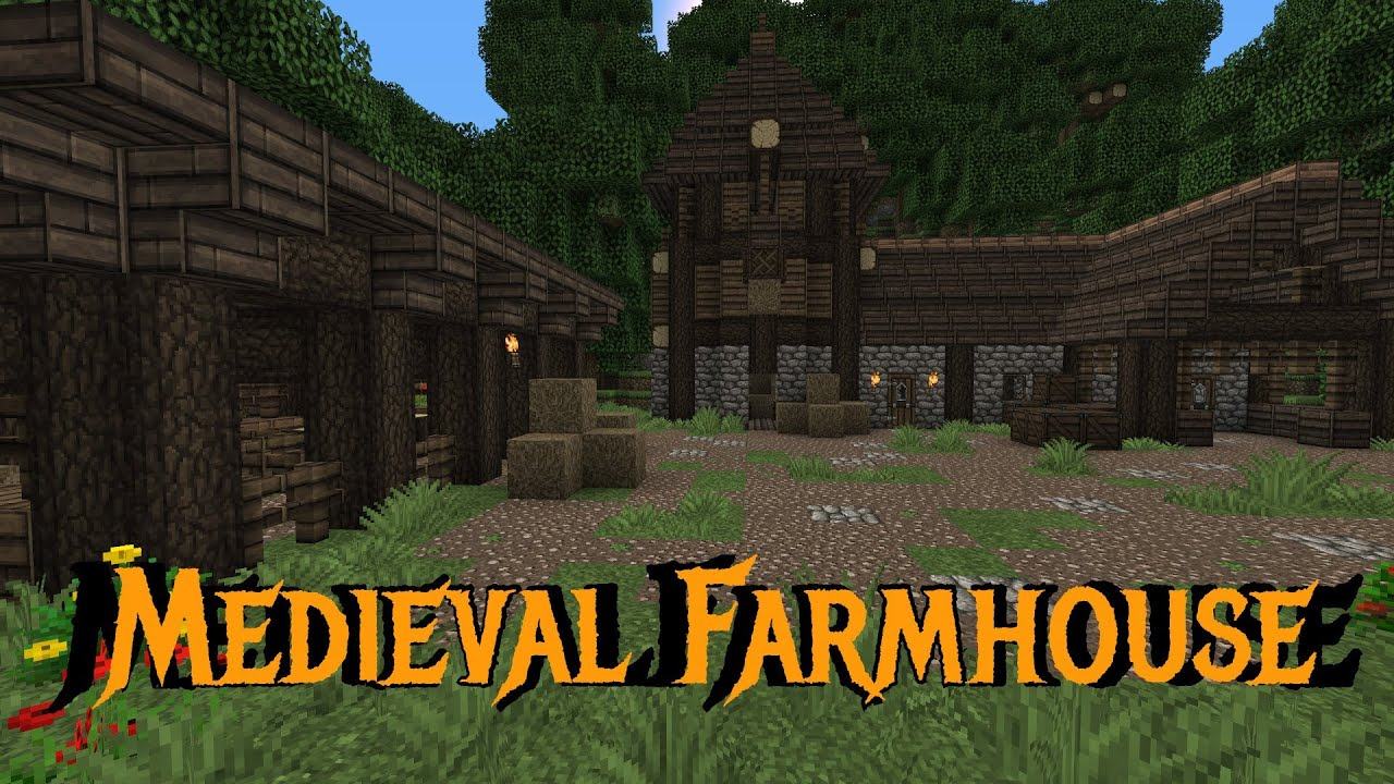 Small Farmhouse Plans Minecraft Gundahar Tutorials Medieval Farmhouse Youtube