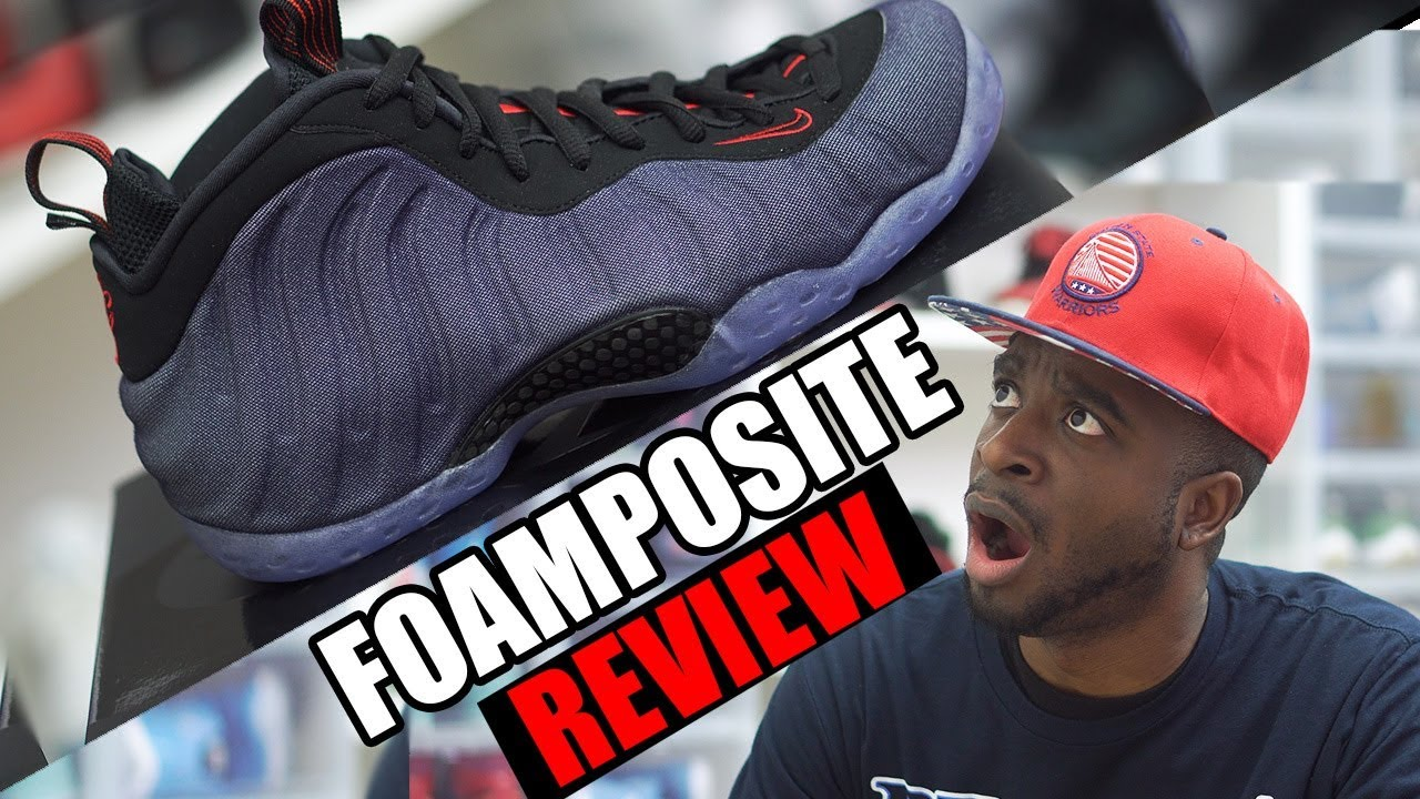 quality design a8209 cd099 Nike Foamposite One Denim EARLY REVIEW!