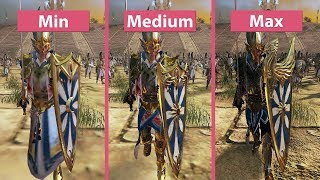 Total War Warhammer 2 – PC 4K Min vs. Medium vs. Max Graphics Comparison Frame Rate