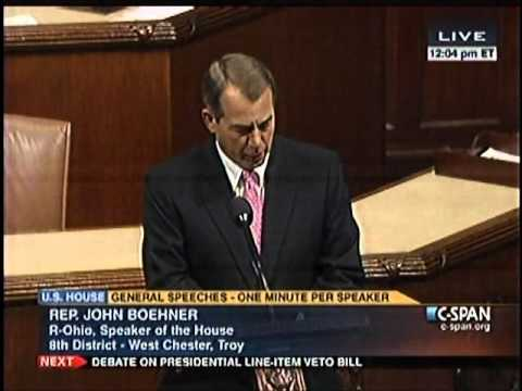 Boehner: Obamacare is an Attack on Religious Freedom