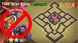 Town Hall 8 War Base|Anti-Dragon th8 war Base|Anti-Govalk th8 war base|With Replay
