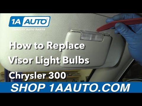How to Replace Visor Light Bulbs 05-10 Chrysler 300