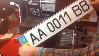 видео изготовление номеров