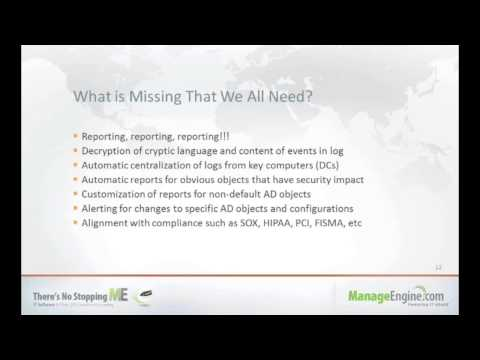 Webinar - Active Directory Change Auditing Made Easy