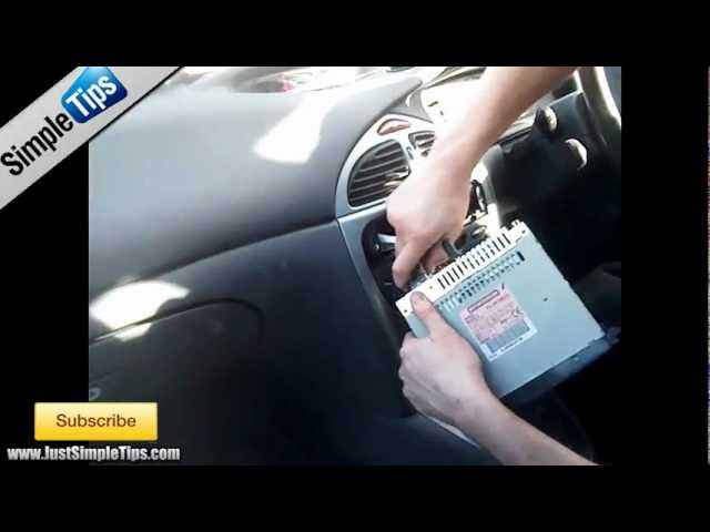 Radio Removal Citroen C5 2001 2008 Justaudiotips Youtube