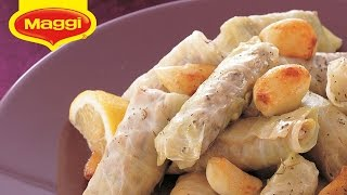 Maggi Ramadan Recipes:lamb Stuffed Cabbage Rolls- محشي ورق الملفوف بلحم الغنم