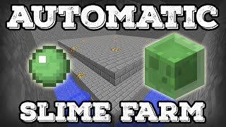 Minecraft Tutorial - Automatic Slime Farm (Minecraft 1.11+)