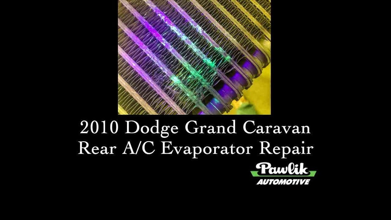 2010 Dodge Grand Caravan Rear A C Evaporator Repair Youtube 2000 3 0l Wiring Diagram